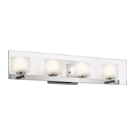 Modern Bathroom Lighting Lowes Shop Kichler Lighting 4 Light Como Chrome Modern Vanity