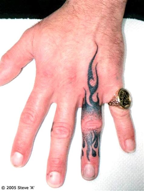 guy finger tattoos 50 awesome finger tattoos that are insanely popular