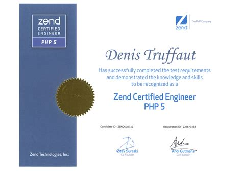 php tutorial for zend certification denis truffaut certifications scrum master ceseo php mysql