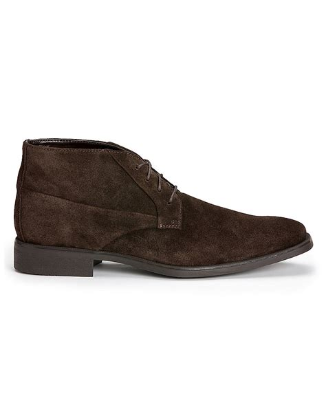 calvin klein ellias suede chukka boots in brown for lyst