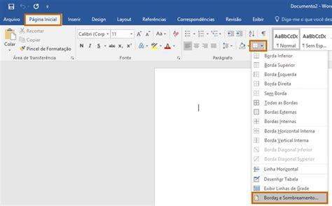 como decorar pagina word bordas para word saiba como decorar documentos ou imagens