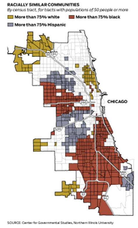 chicago segregation map chicago is america s most segregated city the chicago 77