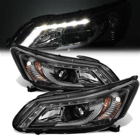 2013 2015 honda accord led drl tube projector headlights