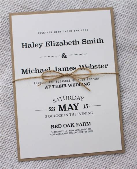 Simple Handmade Wedding Invitations - 25 best ideas about handmade wedding invitations on