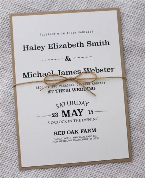 Best 20  Rustic invitations ideas on Pinterest