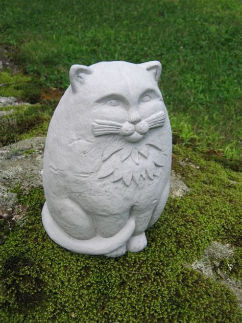 cat statue large concrete garden cats cement by westwindhomegarden