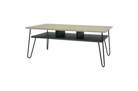 table basse bois et metal 99 table basse industrielle bois et m 233 tal noir loftos table