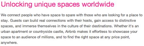 airbnb vision and mission what is airbnb s mission vision statement quora