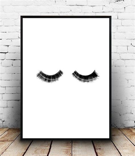 printable minimalist art eyelash print eyelashes printable art fashion print
