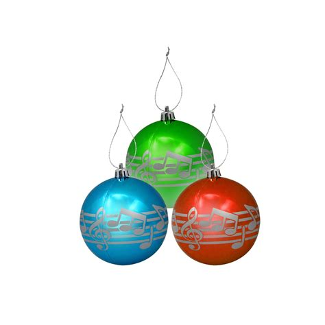 christmas ornament that plays music 3 pack of note ornaments shar sharmusic
