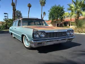 64 impala wagon lowrider 1964 impala bel air wagon bagged patina rat rod