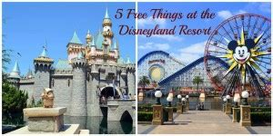 5 free things at disneyland resort the world is a book