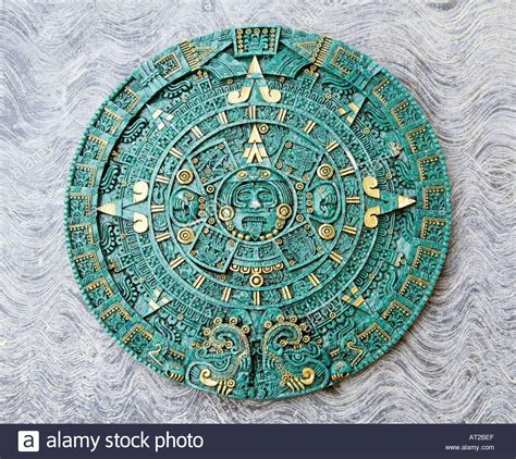 Aztec Calendar Mexico Copy Of Aztec Calendar The Sun Stock Photo