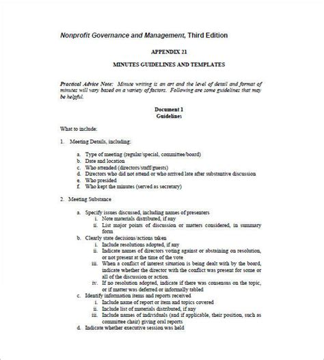 board meeting minutes template free templates resume