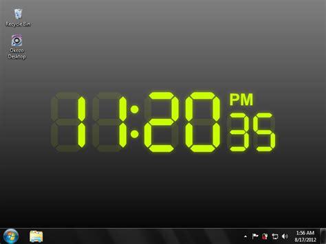 wallpaper clock windows 7 digital clock wallpaper for desktop wallpapersafari