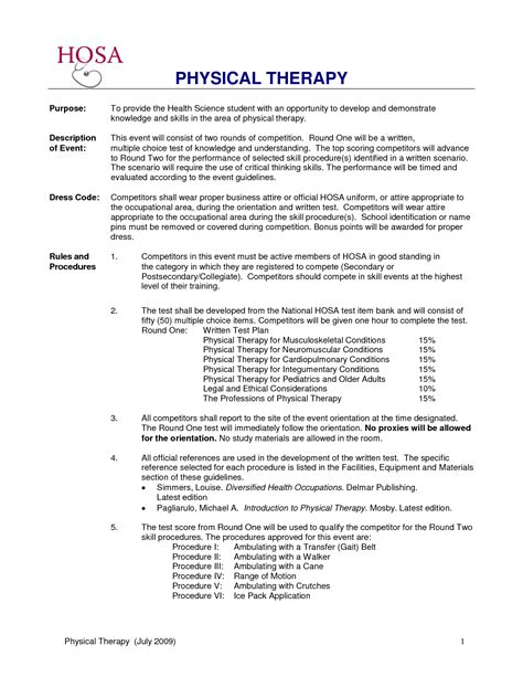 cover letter physical therapy aide resume with purpose and