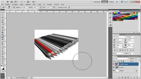 tutorial photoshop cs5 bianco e nero immagine a colori su sfondo bianco e nero tutorial