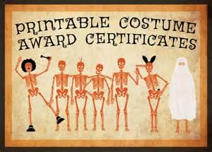 Halloween Costume Certificate Template 10 Free Costume Award Certificates Printables