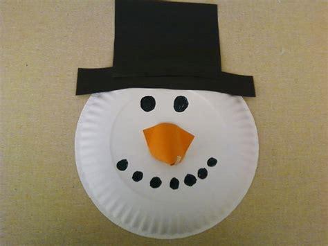Snowman Paper Plate Craft - snowman paper plate crafts