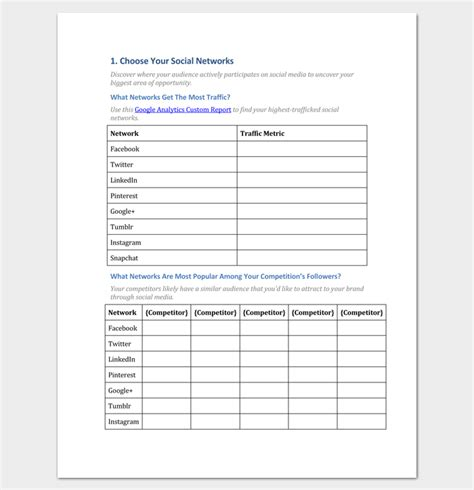 Media Outline by Social Media Strategy Outline Template 7 Sles For Pdf Word