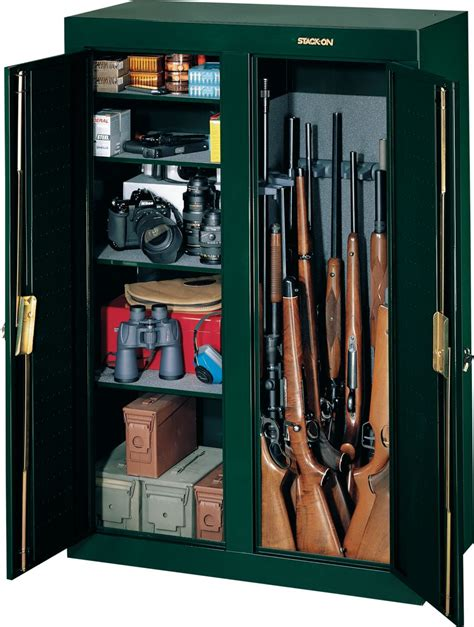 stack on 16 gun cabinet stack on 16 gun double door cabinet 295 99 free s h