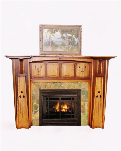 arts crafts style fireplace mantel fireplace ideas