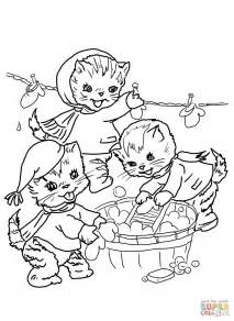 Three Kittens Coloring Pages three kittens coloring page coloring home