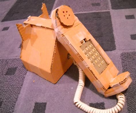 How To Make Paper Telephone - how to make a cardboard telephone 4