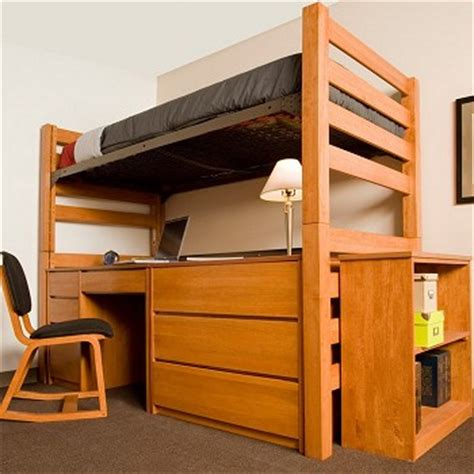 Cribs To College Bunk Beds Loft Graduate Series Xl Open Loft Bed Cherry Finish Free Shipping