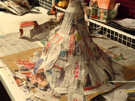 How To Make A Volcano Out Of Paper Mache - how to make a volcano