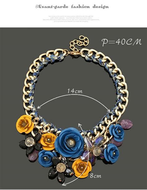 Gelang Decorated Weave Design 3 detachable blue yellow flower decorated weave design asujewelry