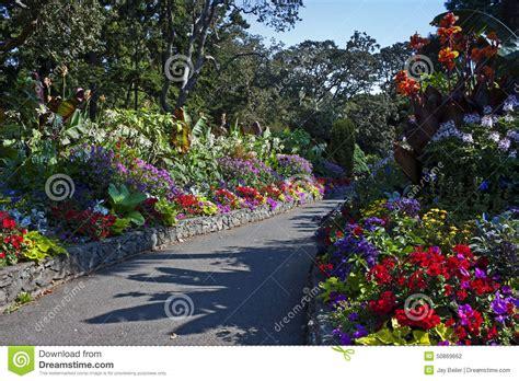 victoria bc floral design studio garden path victoria british columbia stock photo