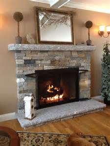 Faux River Rock Fireplace Panels by Decoration How To Build Stacks Veneer Fireplace