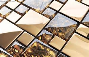 Metal Wall Tiles Kitchen Backsplash Badroom Gold Adhesive Glass Mirror Tiles 3d Tile Stickers