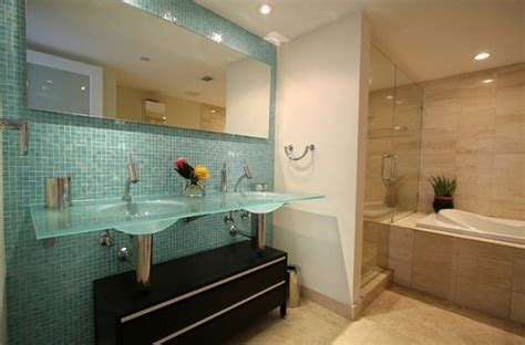 bathroom backsplash ideas blue decorative glass tile for small bathroom backsplash