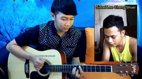 tutorial fingerstyle guitar nathan lagu balasan parodi prista rumangsamu yo penak by sidoel