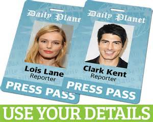 custom id card badge daily planet press pass from superman