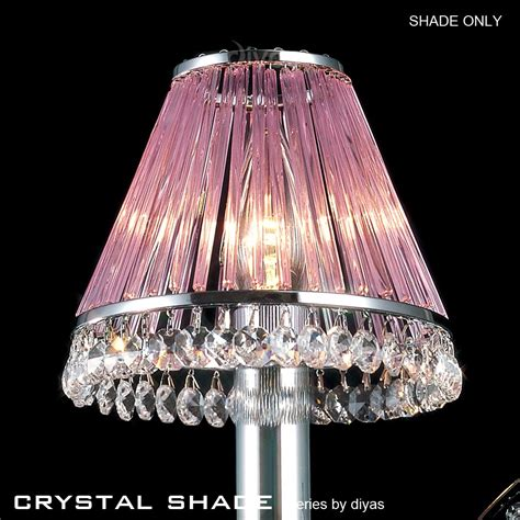 Glass L Shades Uk Only by Chrome Clip On Shade Only With Lilac Glass Rods Il30600