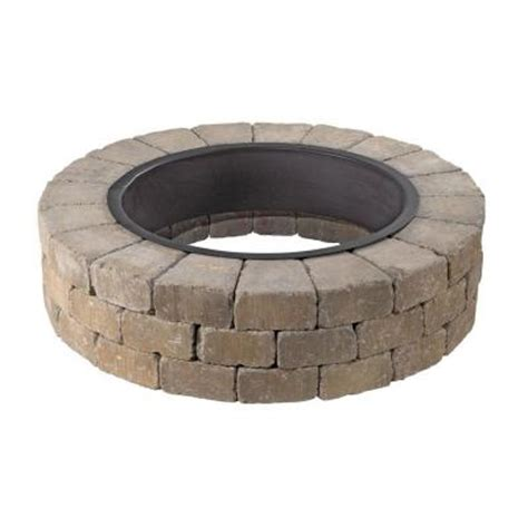 home depot firepit necessories grand pit 48 in concrete pit in