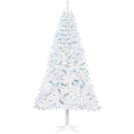 holiday time pre lit 65 madison pine white artificial christmas tree clear lights time 6 5ft pine white tree blue light walmart