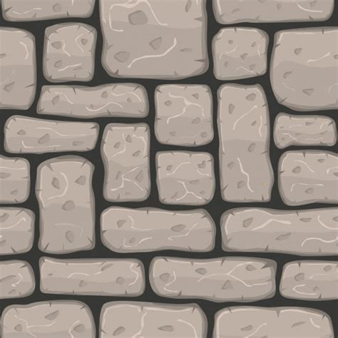 stone wall pattern clipart stone wall with cartoon style vector free download