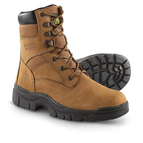 s rhino 174 8 quot work boots brown 190965 work boots at