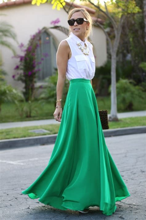 best ways to wear your maxi skirt in summer 2018