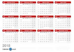 Austria Calendã 2018 Calendar 2018