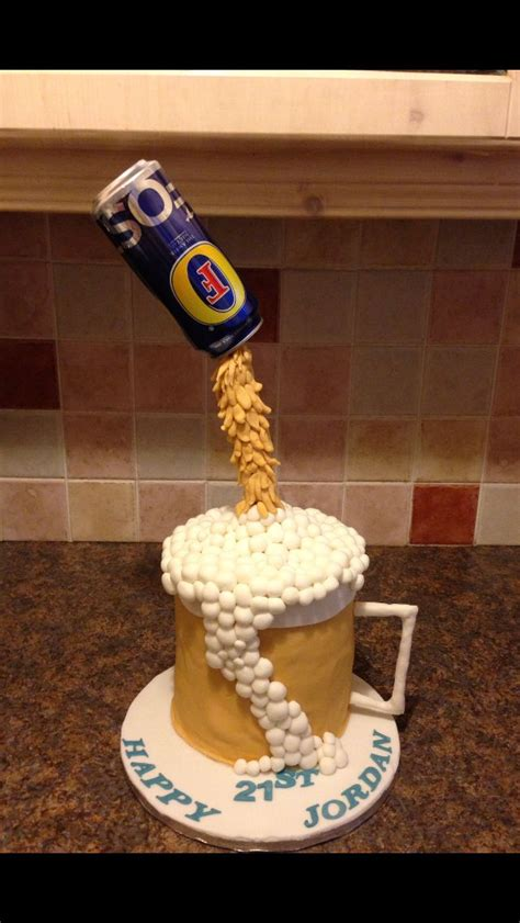 floating beer  fosters cake cakes cakes pops cupcakes pinterest beer cans cakes