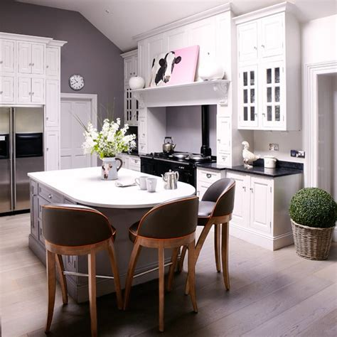 modern country kitchen housetohome co uk modern country kitchen diner in white and grey kitchen