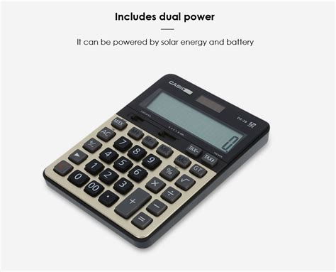 Casio Dh 12 Bk casio ds 2b 12 digit lcd display electronic calculator 43 shopping gearbest