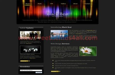 Free Htm Dark Black Colorful Css Web Template Colorful Website Templates