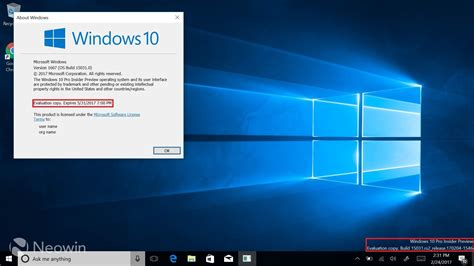 most up to date windows 10 version windows 10 build 15042 removes watermark and expiration
