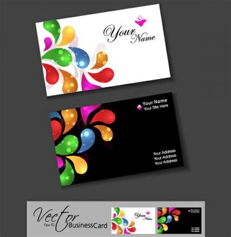 Colorful Business Card Template by Colors Business Card Templates Set Welovesolo